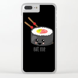 Eat Me in black Clear iPhone Case