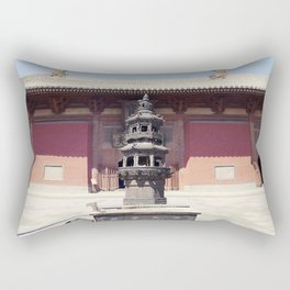 A temple at the door Rectangular Pillow