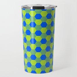 Yellow and blue honeycomb pattern Travel Mug