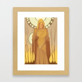 King in Yellow Framed Art Print