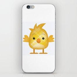 Emoji Chick in plaid iPhone Skin