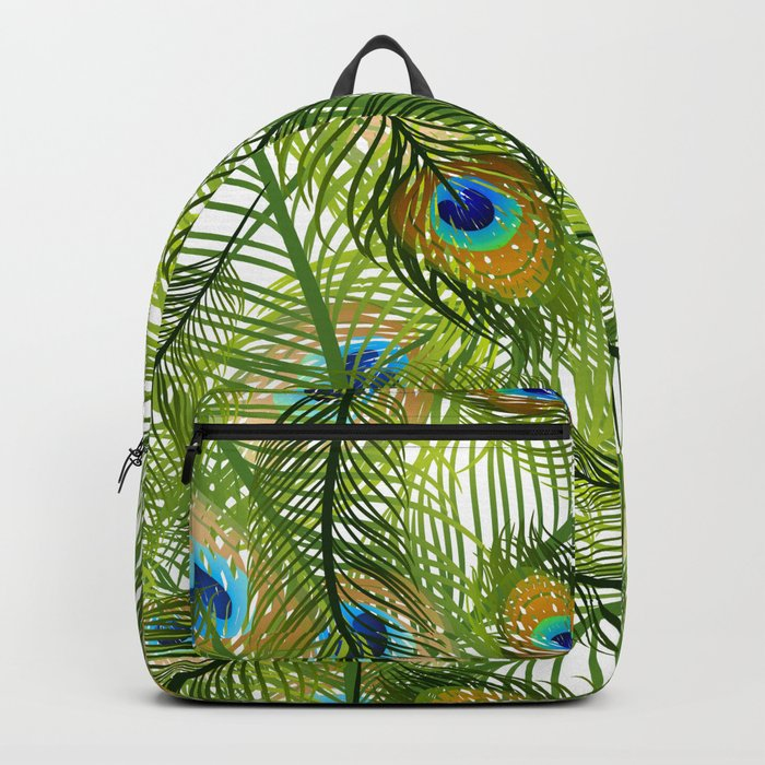 Peacock feather Backpack