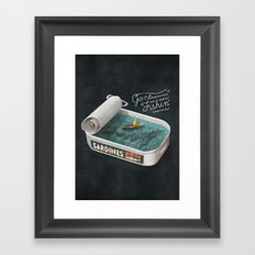 Gone Fishin' Framed Art Print