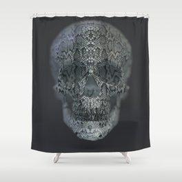 Snake Skull Shower Curtain