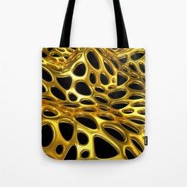 Voronoi Gold Surface Tote Bag