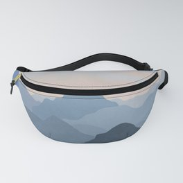 Pastel Sunset over Blue Mountains Fanny Pack