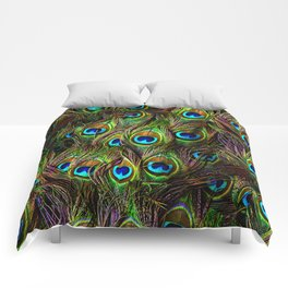 Peacock Feathers Invasion - Wave Comforters
