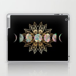 Opal Moon and Gold Stars Laptop & iPad Skin