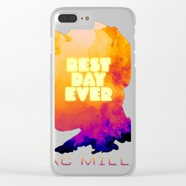 MAC MILLER---BEST DAY EVER Clear iPhone Case