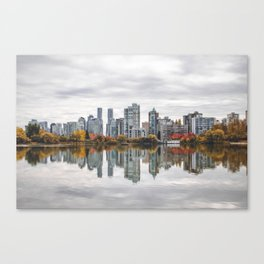 Reflecting on Vancouver Canvas Print