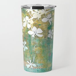 Falling Cherry Blossom Travel Mug