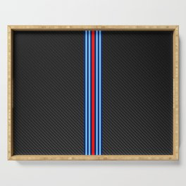 Carbon Racing Stripes Serving Tray