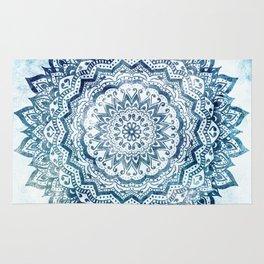 BLUE JEWEL MANDALA Rug