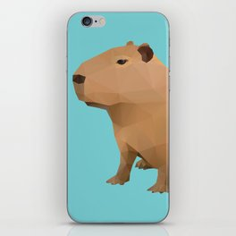 Capybara Polygon Art iPhone Skin