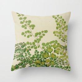 Maidenhair Ferns Throw Pillow
