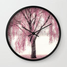 Pink Willow Wall Clock