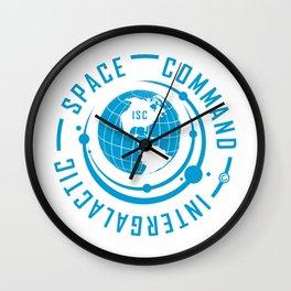 Intergalactic Space Command Logo 1 Wall Clock