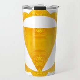 Energy Center Abstract Chakra Artwork Travel Mug