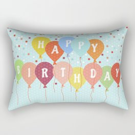 Colorful Birthday card Rectangular Pillow