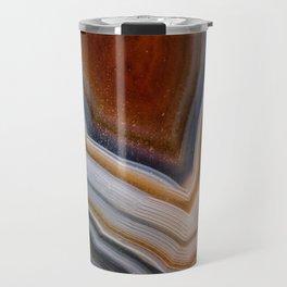 Layered agate geode 3163 Travel Mug