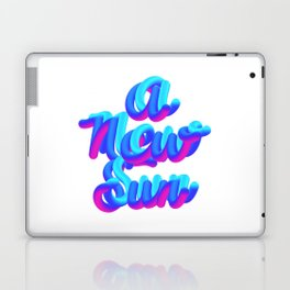 A new sun typography 3d M83 Laptop & iPad Skin