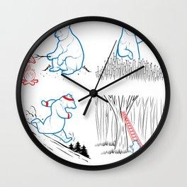 DA BEARS - A GOOD DAY Wall Clock
