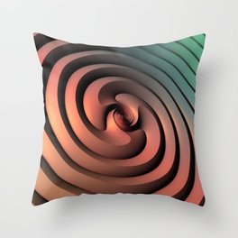 Spiraling One Throw Pillow