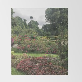 Stormy Garden Throw Blanket