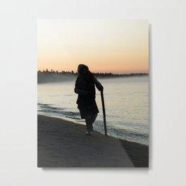 Sunrise Shadow by the lake Metal Print