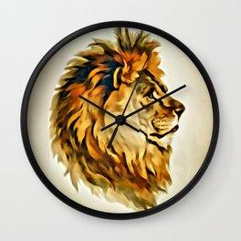 MAJESTIC LION PORTRAIT Wall Clock