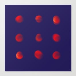 Total eclipse of the polka dot Canvas Print