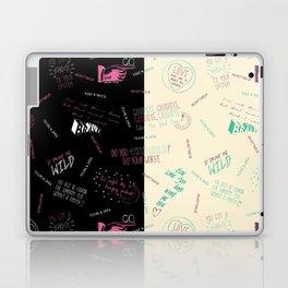 Doodlethrob (Tegan and Sara) two tone Laptop & iPad Skin