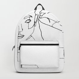 DETERMINED ( ONE LINE ART ) Backpack