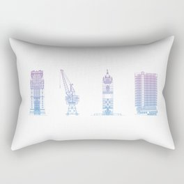 Bristol Architecture Rectangular Pillow