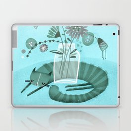MASON JAR CAT Laptop & iPad Skin