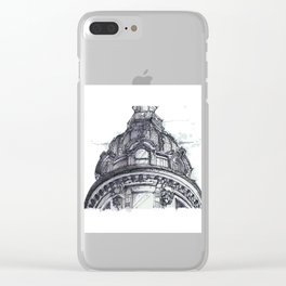 Hand Sketched Dome Clear iPhone Case