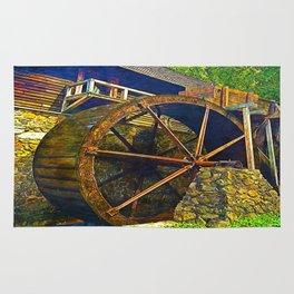 Gristmill Water Wheel Rug
