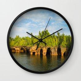 Sea caves #7 Wall Clock