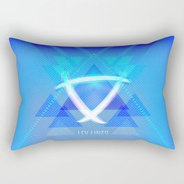 Neon Ley Lines Rectangular Pillow
