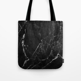 Black Marble Print II Tote Bag