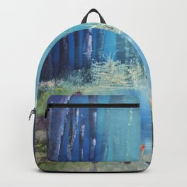 Nightfall at the pond Backpack