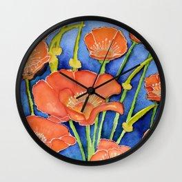 Pardon my Poppies Wall Clock