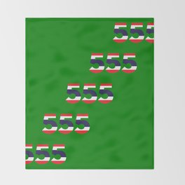 555  Thai flag Throw Blanket