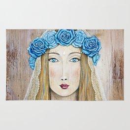 Blue Rose Priestess Rug