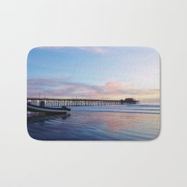 Dory Sunset Newport Beach Pier Bath Mat