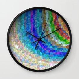 Mosaic rainbow sky Wall Clock