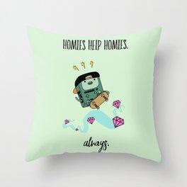 Homies Help Homies Throw Pillow