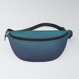 Blue Ombre Map Fanny Pack
