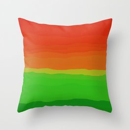 Candy Watermelon Abstract Throw Pillow