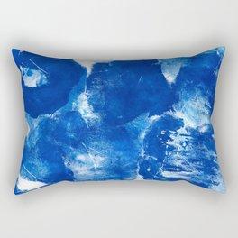 Bold Cerulean Rectangular Pillow